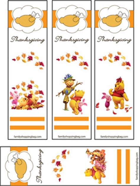 printable turkey bookmarks bookmarks thanksgiving pooh 2 thanksgiving bookmarks