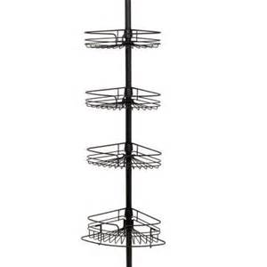 4 tier metal pole shower caddy in bronze 2132hb the home