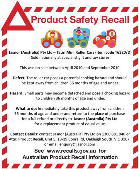 product recall plan template jasnor australia pty ltd tatiri mini roller cars