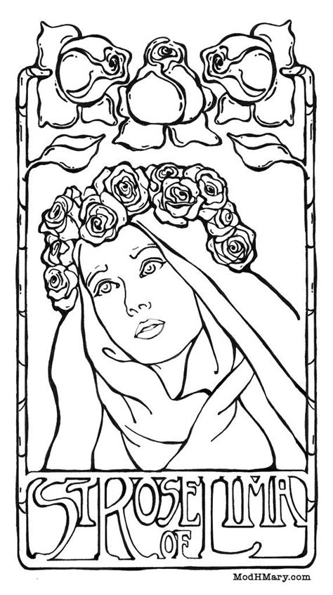 Coloring Pages Of Saint Rose Of Lima | 17 best images about family saints on pinterest pewter