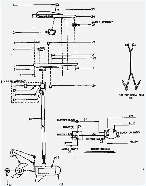 evinrude trolling motor wiring diagram wildness me