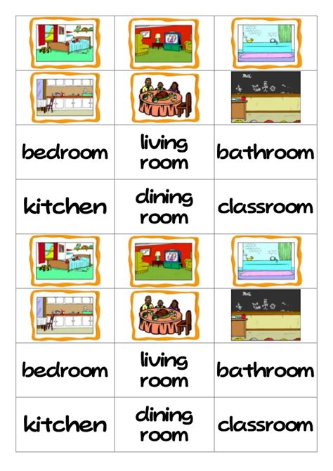 things in the living room vocabulary rooms flashcard