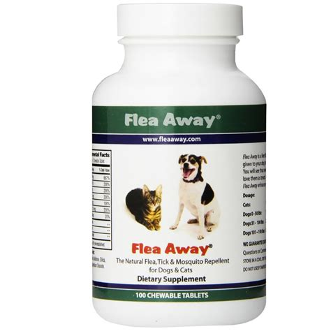flea for dogs flea away for cats dogs 100 chewable tablets