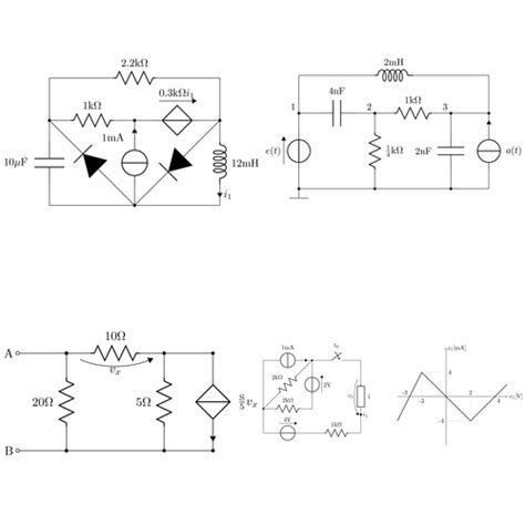 draw circuits circuitikz easy electrical networks tikz exle