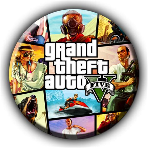 Grand Theft Auto 5 Logo Png by Gta V Icon 1 By Sirithlainion On Deviantart