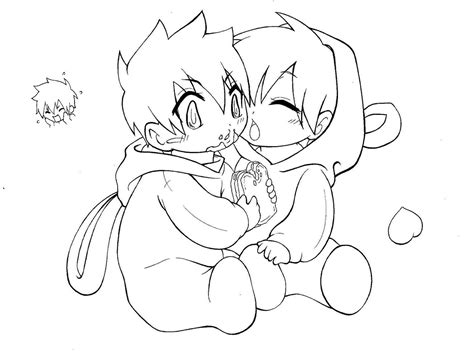 anime chibi boy coloring pages sketch coloring page