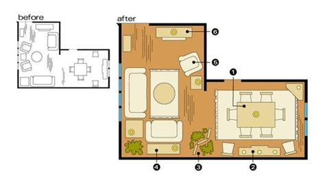 l shaped living dining room furniture layout how to optimize typical rental layouts the l shaped