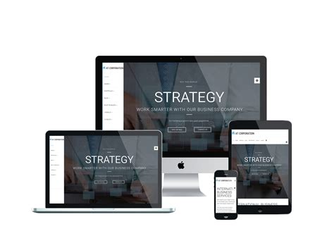 html layout mobile devices at corporation onepage free company corporation