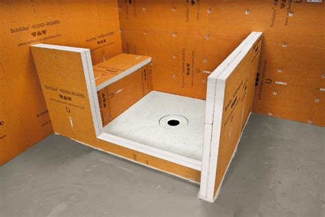 schluter shower bench schluter 174 kerdi board kerdi board panels building