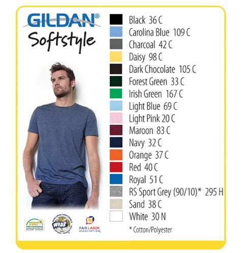 gildan softstyle colors index of images gildan