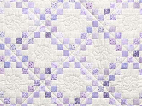 Lavender Patchwork Quilt - chain quilt gorgeous adeptly made amish quilts