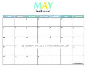 Printable Calendar Template Pdf by May Calendar Template 2017 Calendar Templates