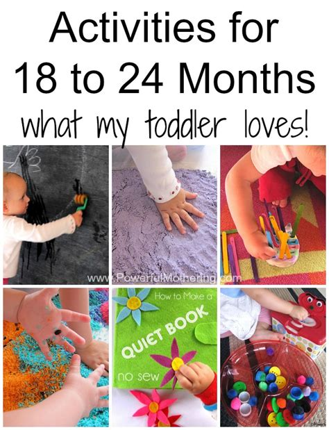 simple do able activities for 18 to 24 month toddlers