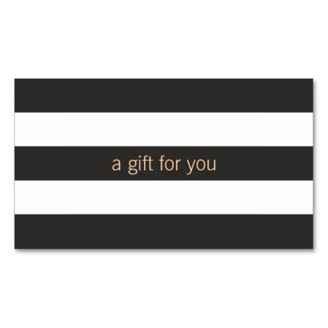 Business Gift Cards Create - black and white striped gift card