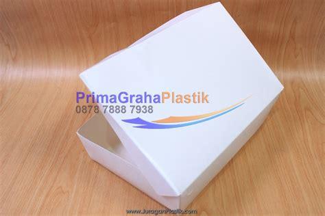 Lunch Box Kertas Sekat 4 Xl 200 Pcs Gojek Only lunchbox paper quot quot plain box makan kertas quot tanpa sekat quot stock ready home
