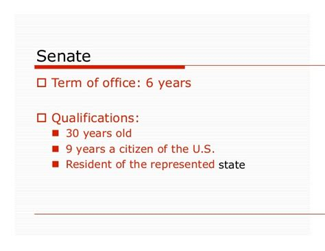 Congress Term Of Office by Congress Of The Usa Power Point