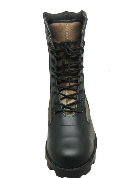cheap army boots for corrected leather and canvas fabric cheap boots