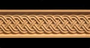 Bookcase Trim Molding Frieze Celtic Double Weave Acanthus Leaf Decorative