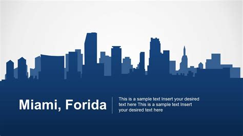 Miami Powerpoint Template Slidemodel Of Miami Powerpoint Template