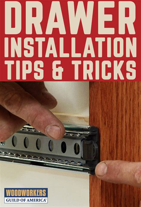 drawer installation tips mechanical drawer