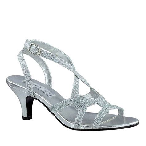 Evening Shoes by New Touch Ups Low Heels Flatter Strappy Formal