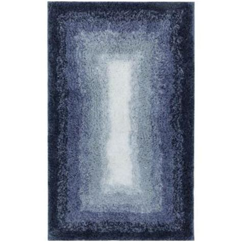 Ombre Bath Rug Mohawk Home Ombre Border Denim 20 In X 32 In Bath Rug 067008 The Home Depot
