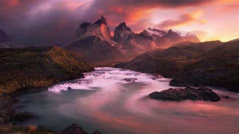 park andes patagonia skies torres del paine wallpaper