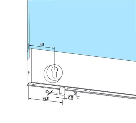 dorma glass door lock dorma 76 5mm bottom door rail with floor locking lock