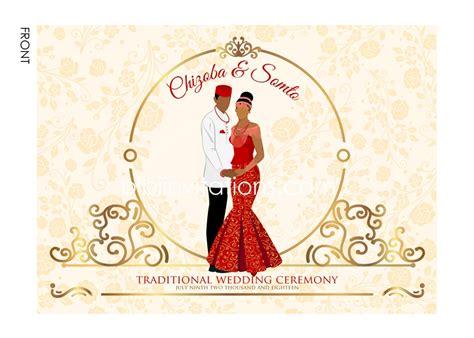 Wedding Invitation Cards Nigeria by Traditional Wedding Invitation Card Igbo