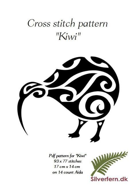 kiwi tribal tattoos simple yet cross stich pattern of a beautiful kiwi