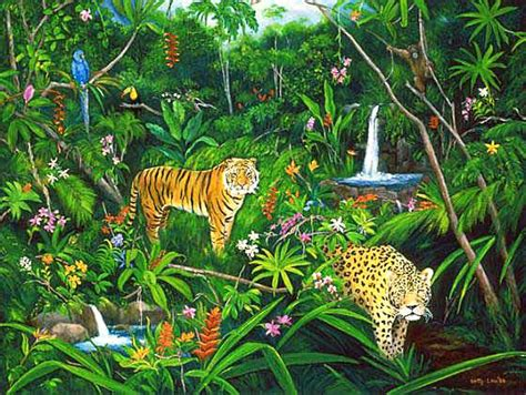 jungle painting jungle artwork by betty lou barry