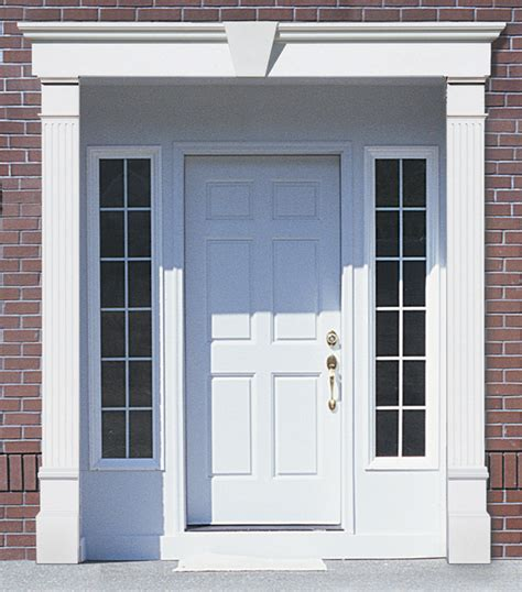Vinyl Exterior Door Trim with Vinyl Door Surrounds Vinyl Door Trim Vinyl Door Molding Accent Building Products