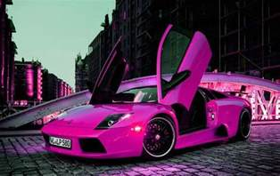 pink car cool cars this