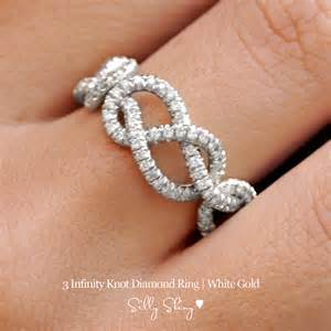 Infinity Band Ring 3 Infinity Knots Ring Silly Shiny By