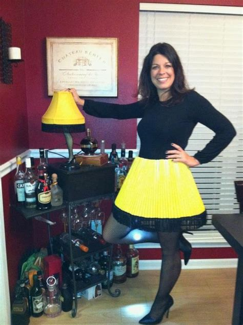 easy christmas story leg lamp costume halloweenmuah