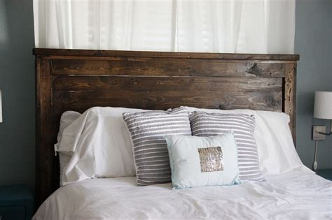wooden headboards diy queen headboard building beingbrook
