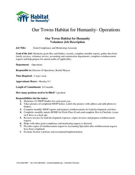 best photos of job duties list template job description