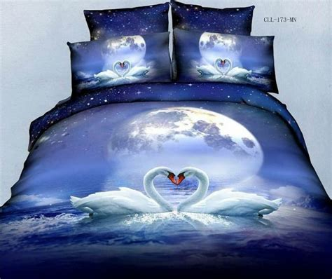 3d Duvet Cover Bedding Sets Colorful Mart Swan Lake Blue Bedding Animal Print Bedding 3d Bedding Animal Duvet Cover Set