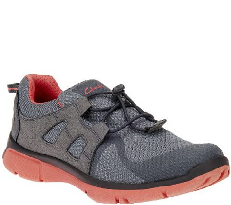 clarks athletic shoes clarks outdoor mesh athletic shoes w bungee luminate