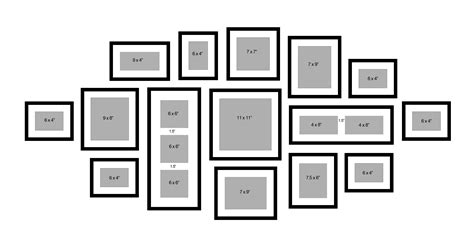 Picture Framing 171 Paris Framemakers Picture Wall Collage Template