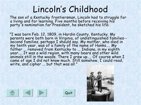 life of abraham lincoln powerpoint presentation interactive powerpoint lab