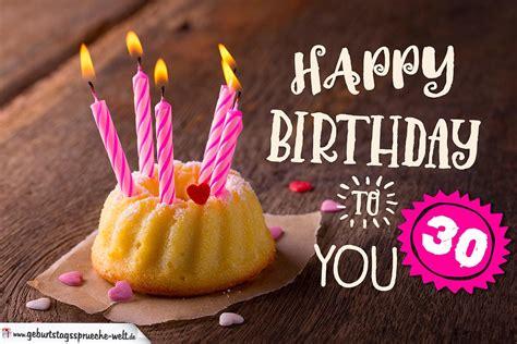 Happy Birthday Karte Zum 30 Geburtstag Mit Kuchen