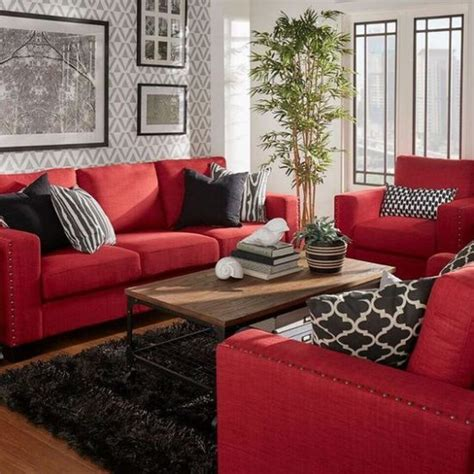 living room with red sofa incredible effects to create in your living room today