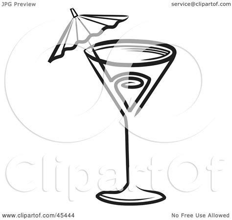 mixed drink clipart black and white royalty free rf clipart illustration of a black and