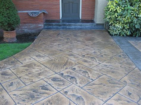 Patio Floor Design Ideas Sted Concrete Patio For Pleasure Amaza Design