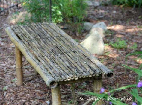 bamboo garden bench bamboo garden bench delightful enchanted gardens pinterest