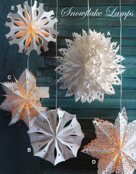 How To Make A Big Paper Snowflake - large snowflake lights snowflake pendant l