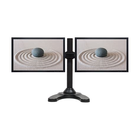 Dual Lcd 2 Monitor Stand Desk Mount Adjustable Curved Free Adjustable Monitor Stand For Desk
