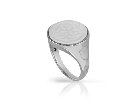 merii sterling silver white agate sovereign ring size n