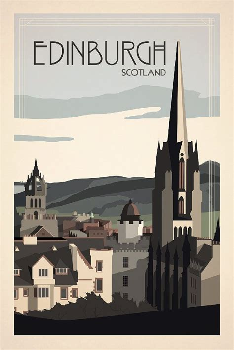 edinburgh a traveller s reader a traveller s companion books edinburgh scotland travel poster inspired by vintage